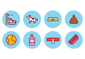 Free Dog Icon Set - vector #396327 gratis