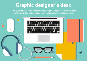 Free Designer Desk Illustration - бесплатный vector #396337