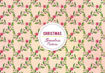 Vector Christmas Holly Pattern - Free vector #396387