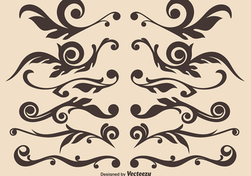 Vector Set Of Hand Drawn Ornamental Dividers - Kostenloses vector #396477