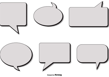Retro Style Vector Speech Bubbles - Free vector #396497