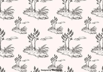 Hand Drawn Toile Pattern Vector - Kostenloses vector #396507