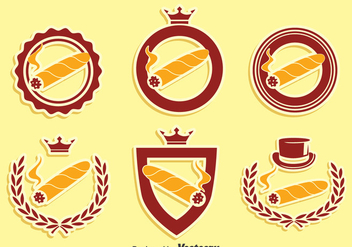 Cigar Label Collection Vector - бесплатный vector #396597