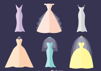 Brides Maid Flat Vector Set - vector gratuit #396607