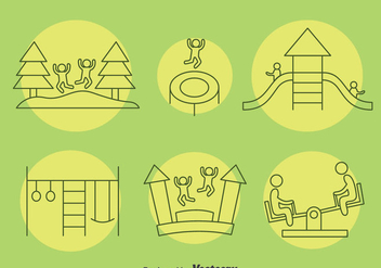 Playground Kids Icons Vector - Free vector #396707