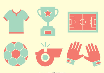 Nice Soccer Element Icons Vector - Free vector #396727