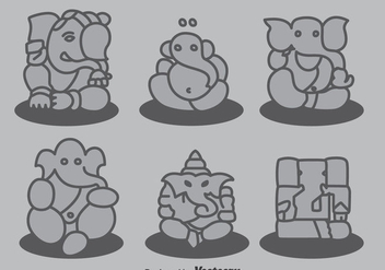 Ganesha Collection Vector - Free vector #396737