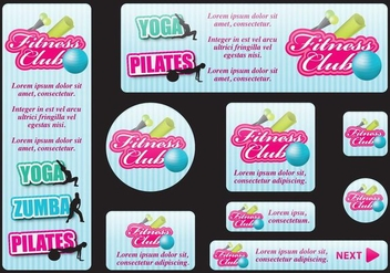 Fitness Banners - vector gratuit #396797