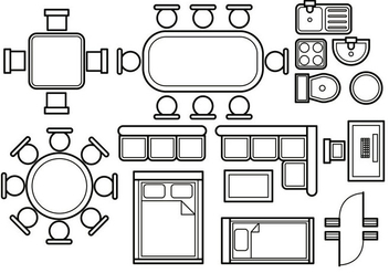 Floor plan vector - vector gratuit #396827