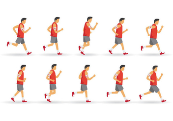 Free Walk and Run Cycle - vector gratuit #396847
