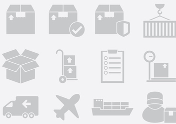 Gray Delivery Icons - vector gratuit #396887
