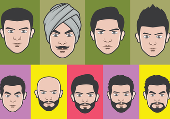 Face Avatar Vector Set - vector #396897 gratis