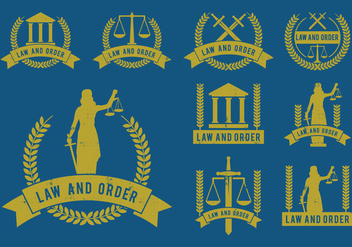 Law and Order Icons Vector Set - Kostenloses vector #396917