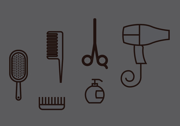 Hair Clippers Vector Set - vector gratuit #397027