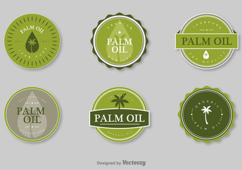 Palm Oil Vector Stamps - бесплатный vector #397037