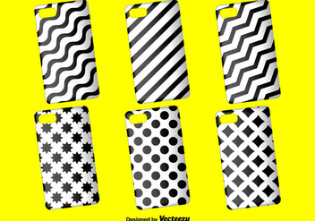 Black and White Phone Case Vector Background - vector #397057 gratis