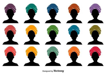 Turban Vector Icon Set - vector gratuit #397087