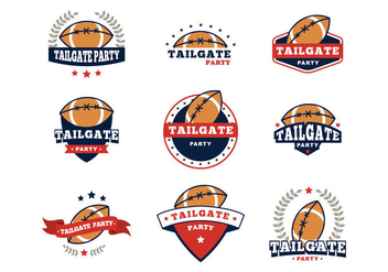 Free Tailgate Badges Party Vector - Kostenloses vector #397097