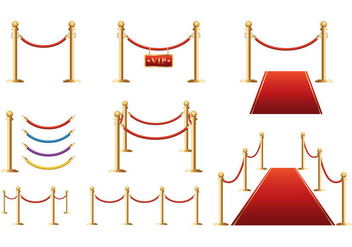 Free Velvet Barrier Vector - бесплатный vector #397157