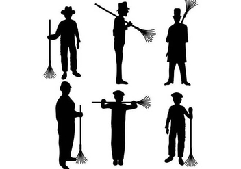 Chimney Sweep Vector - vector #397197 gratis
