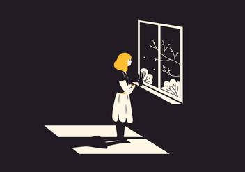 Window Woman Illustration - vector #397207 gratis