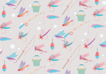 Fly Fishing Pattern Vector - Free vector #397307