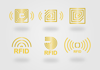 RFID Icon Vector Set - vector gratuit #397327