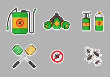 Pest Control Icon Set - vector #397377 gratis