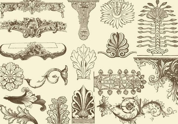 Acanthus Decorations - vector gratuit #397407