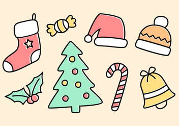 Free Christmas Elements Vector - vector #397447 gratis