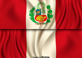 Vector Illustration Of Peru Flag - бесплатный vector #397527