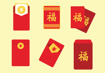 Red Packet Vector Set - vector gratuit #397537