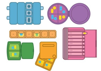 Pill box vector - vector #397617 gratis