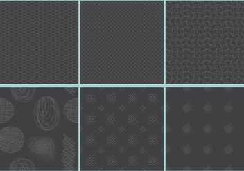 Dark Crosshatch Patterns - Free vector #397647