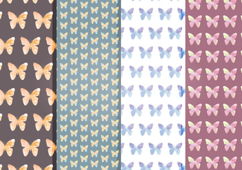 Vector Butterflies Patterns - Kostenloses vector #397667
