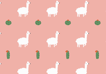 Llama and Cactus Pattern - Kostenloses vector #397707
