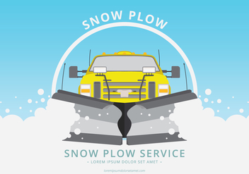 Snow Plow Car Illustration - бесплатный vector #397867