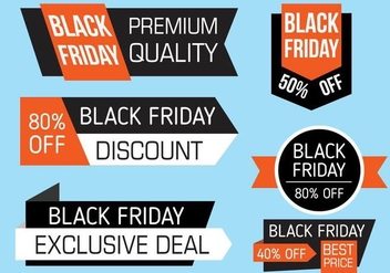 Free Black Friday Banners Vector - vector gratuit #397947
