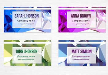 Free Vector Colorful Geometric Business Cards - бесплатный vector #397987
