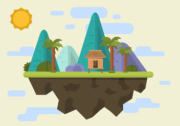 Mountain Shack Vector Illustration - Free vector #397997