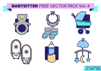 Babysitter Free Vector Pack Vol. 4 - Free vector #398017