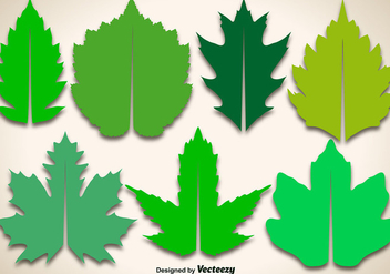 Editable Vector Maple Leaves - vector gratuit #398067