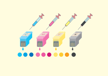 Ink Cartridge Vector - vector #398127 gratis