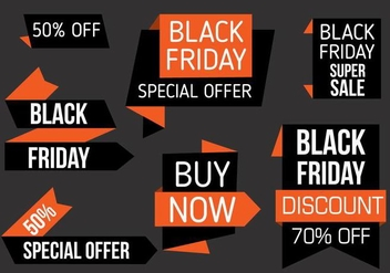 Free Black Friday Labels Vector - бесплатный vector #398137