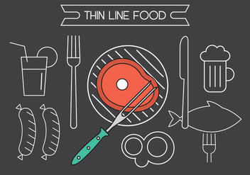 Free Vector Food Icons - vector gratuit #398367