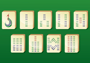 Mahjong Vector Icons - бесплатный vector #398437