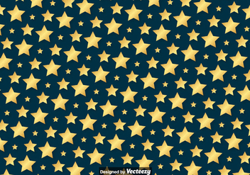 Vector Golden Stars Pattern - vector gratuit #398467