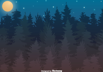 Vector Forest Illustration - vector gratuit #398487