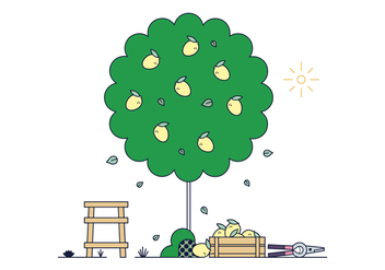 Free Lemon Tree Vector - vector #398647 gratis