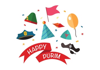 Happy Purim Vectors - vector gratuit #398667